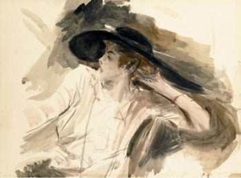 Young Woman in a Large Hat | Giovanni Boldini | oil painting