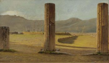 A View from Pompeii 1873 | Giuseppe De Nittis | oil painting