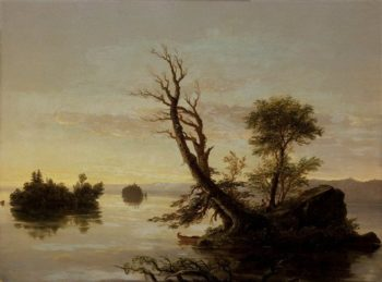 American Lake Scene | John Carroll | oil painting