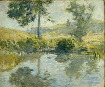 The Pool | John Henry Twachtman | oil painting