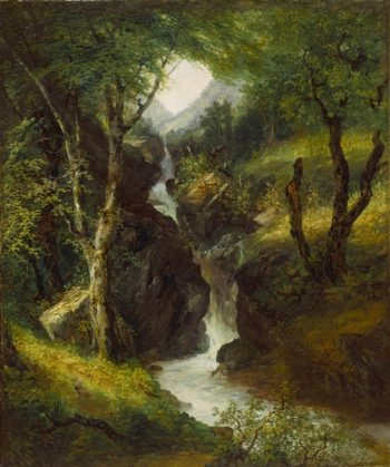 Cascade In The Forest | John Hesselius | oil painting