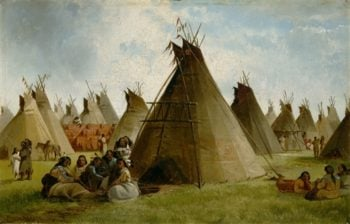 Prairie Indian Encampment | John Mix Stanley | oil painting