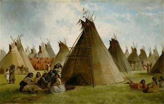 Prairie Indian Encampment | John Mix Stanley | oil painting