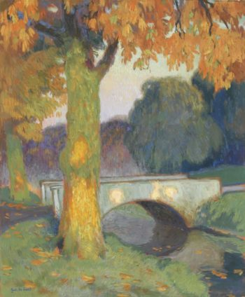 Little Bridge 1914   Gustave De Smet   oil painting