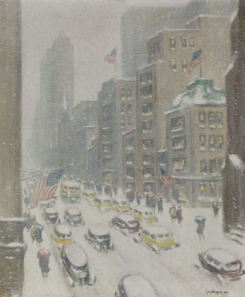 5th Avenue Midtown | Guy Carleton Wiggins | oil painting