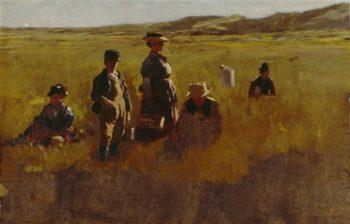 In The Fields | John Trumbull | oil painting