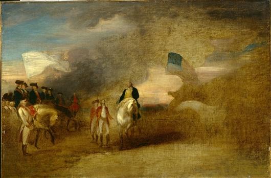 Surrender Of Cornwallis At Yorktown   John Trumbull   oil painting