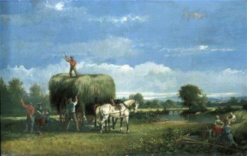 Haying | John Wollaston | oil painting