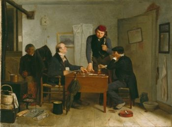 The Card Players | Julius C. Rolshoven | oil painting