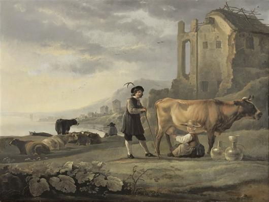 Landscape With Cattle   Karel Dujardin   oil painting