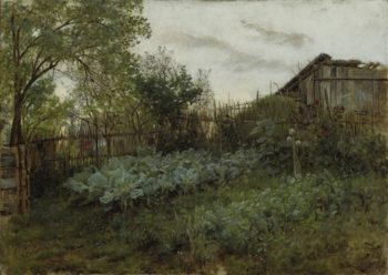 The Back Garden | Leon Augustin Lhermitte | oil painting