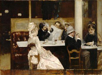 Cafe Scene In Paris | Leonaert Bramer | oil painting
