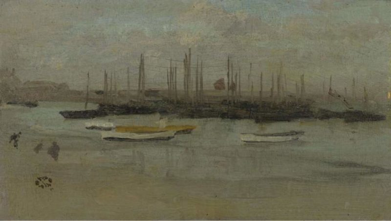 Blue and Opal   James McNeill Whistler   oil painting
