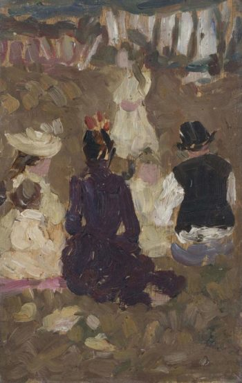 Seated Family in the Park | James Wilson Morrice | oil painting