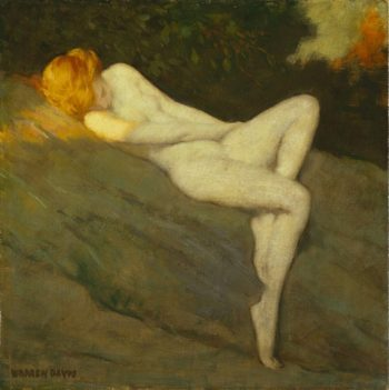 Sleeping Nude | Louis Remy Mignot | oil painting