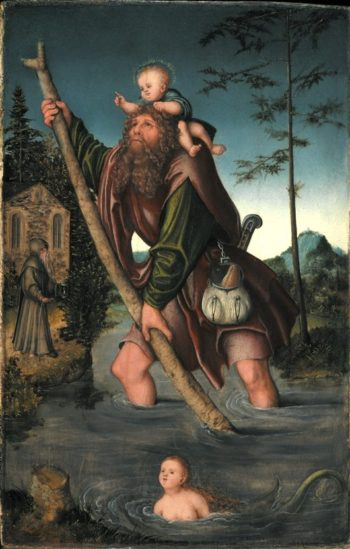 Saint Christopher | Lucas Cranach the Elder | oil painting