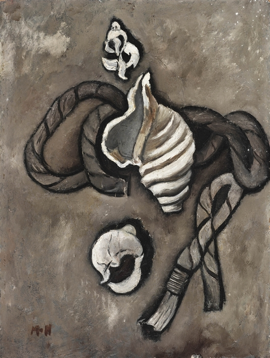 Still Life: Rope And Shells   Marsden Hartley   oil painting