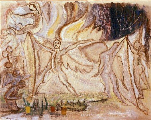 Angel Of The Resurrection   Marsden Hartley   oil painting