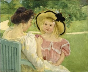 In The Garden | Mary Cassatt | oil painting