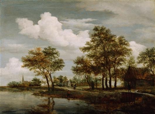 A River Scene | Meindert Hobbema | oil painting