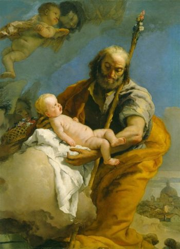 Saint Joseph And The Christ Child | Melchior de Hondecoeter | oil painting