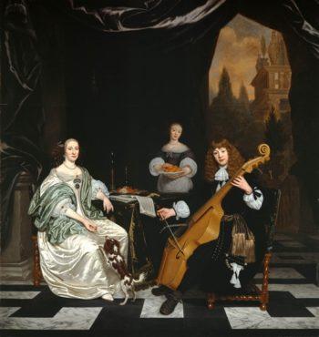 The Sinfonia | Michiel van Musscher | oil painting