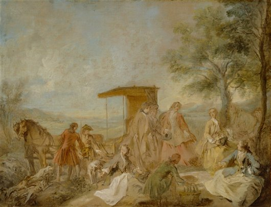 The Repast Of The Hunting Party | Nicolas Lancret | oil painting