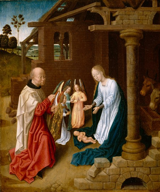 Adoration Of The Christ Child | Nicolas Poussin | oil painting