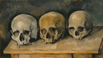 The Three Skulls | Paul Cezanne | oil painting