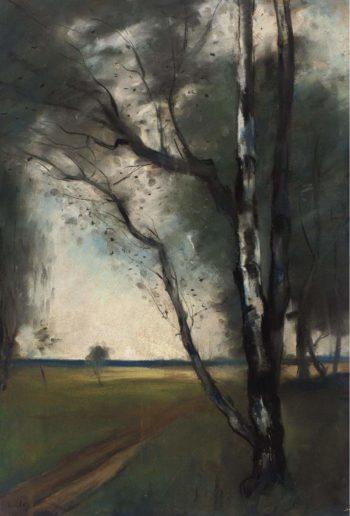 Birch Grove | Lesser Ury | oil painting