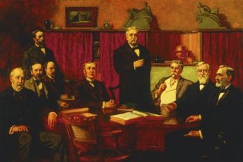 First Board Of Trustees Of The Detroit Museum Of Art | Percy Ives | oil painting