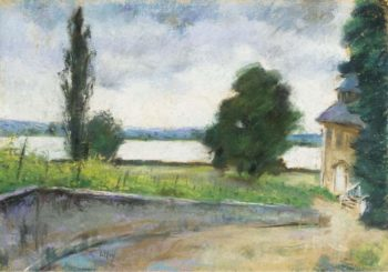 House by the Lake | Lesser Ury | oil painting