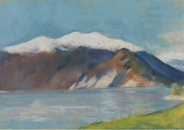 Lake Garda and Monte Baldo 1890s | Lesser Ury | oil painting