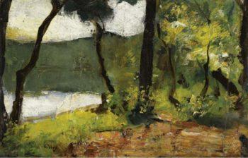 Lake in Mark Brandenburg 1910 20 | Lesser Ury | oil painting