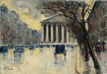 La Madeleine 1928 | Lesser Ury | oil painting