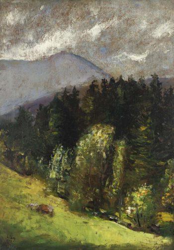 Landscape 1899 | Lesser Ury | oil painting