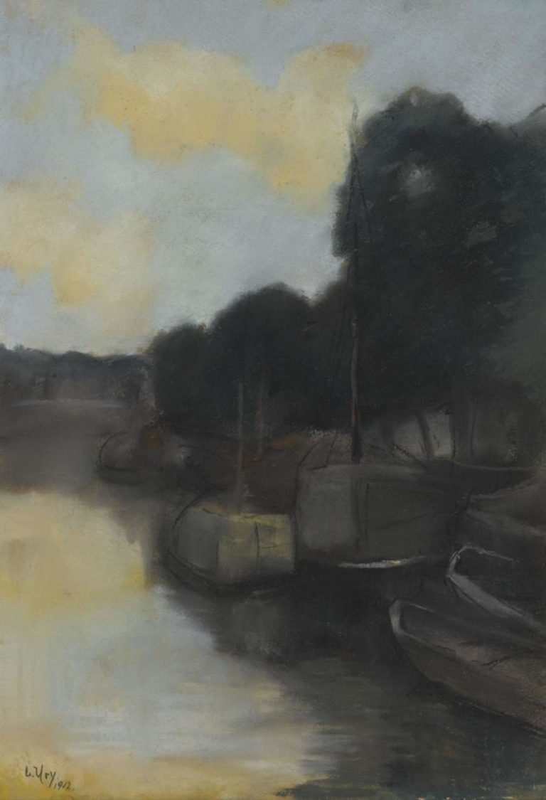 On a Canal 1912 | Lesser Ury | oil painting