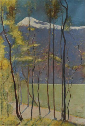 Spring on Lake Garda 1905 | Lesser Ury | oil painting