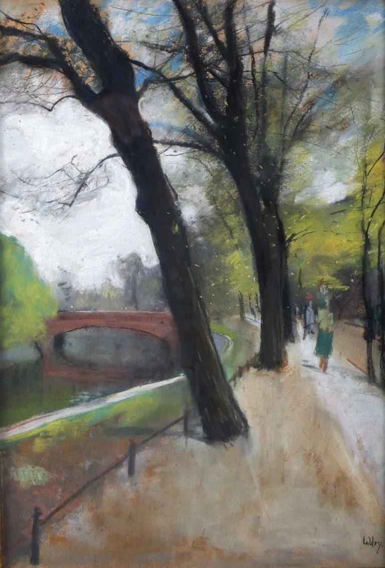 Tiergarten Berlin   Lesser Ury   oil painting