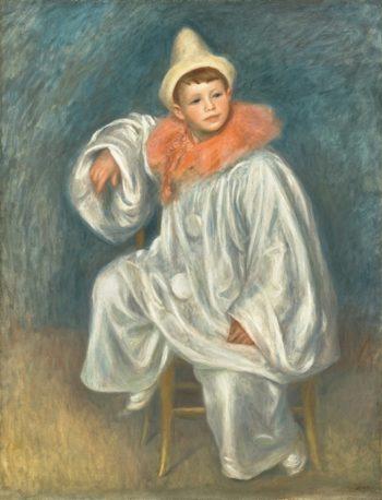The White Pierrot | Pierre Auguste Renoir | oil painting