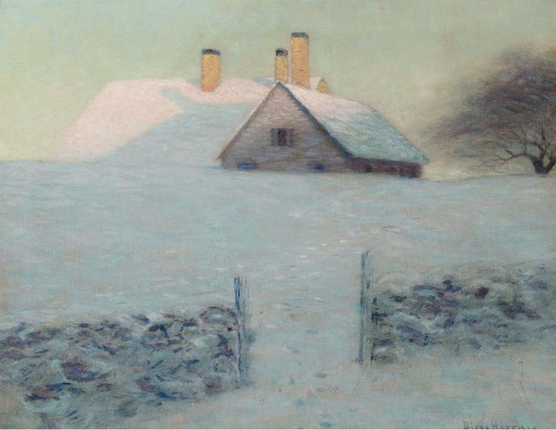 Snowy Day   Lowell Birge Harrison   oil painting