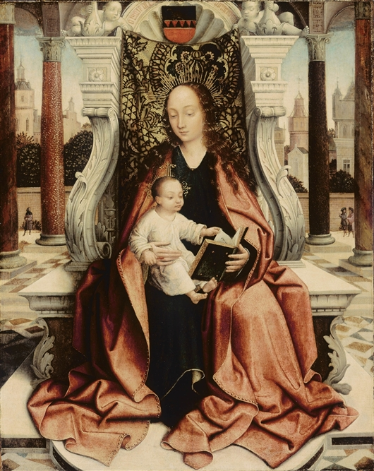 The Virgin Enthroned | Quentin Massys | oil painting