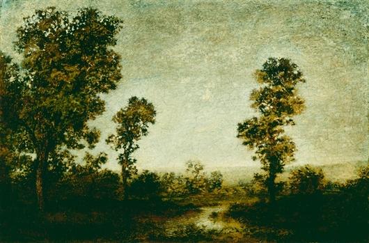 Landscape   Ralph Albert Blakelock   oil painting