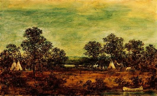 Indian Encampment   Ralph Albert Blakelock   oil painting