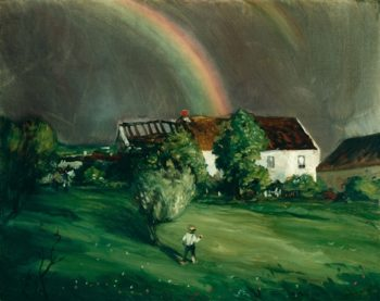 Boy And Rainbow | Robert Cozad Henri | oil painting