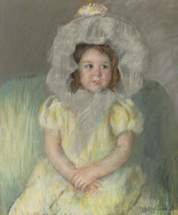 Portrait of a Young Girl   Mary Cassat   oil painting