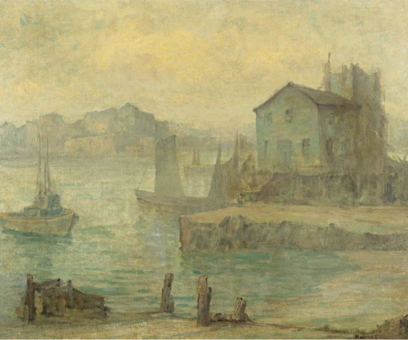 Boats in a Harbor | Maurice Braun | oil painting