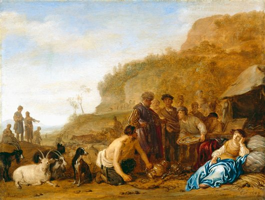 Laban Searching For His Gods | Rosa Bonheur | oil painting