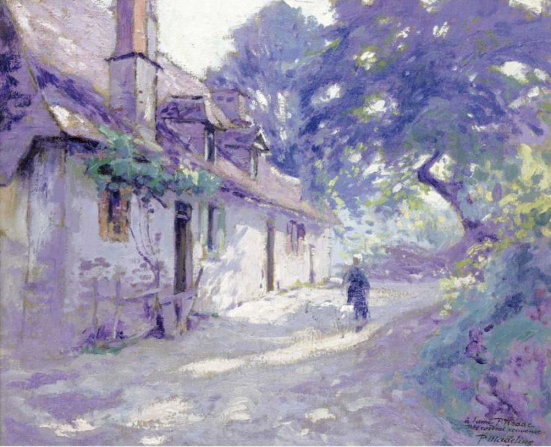 Farm`s Yard 1918   Paul Madeline   oil painting