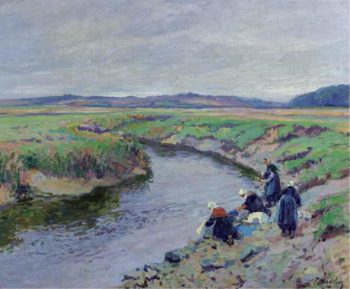 Laundresses by the River 1910 | Paul Madeline | oil painting
